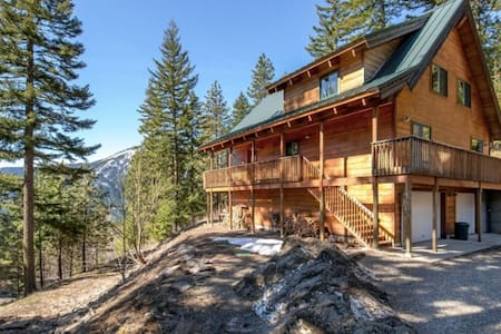 Private Mountain Lodge w/ Big Lake Views - 海岸線市(Shoreline) - 獨棟