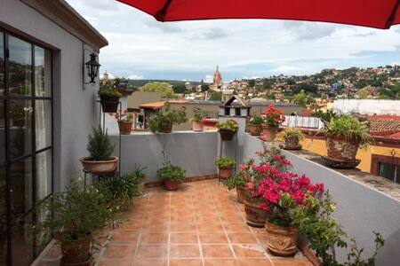 Cozy Apartment with an Amazing view of Town - San Miguel de Allende