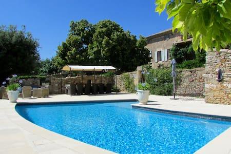 Renovated 17C Mas with heated pool near Uzès - La Bruguière