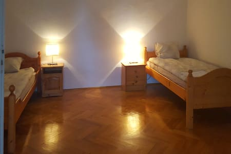 Nice twin room with shower, with green garden view - Budapest - Villa