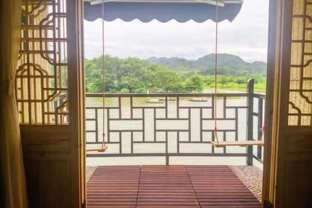 古宴画乡景区内沿江无敌江景房-清净-古朴-设施现代 - Cottage