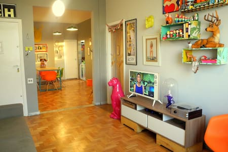 BH - Bright & Supercentric 70's Apt - Belo Horizonte - Apartment
