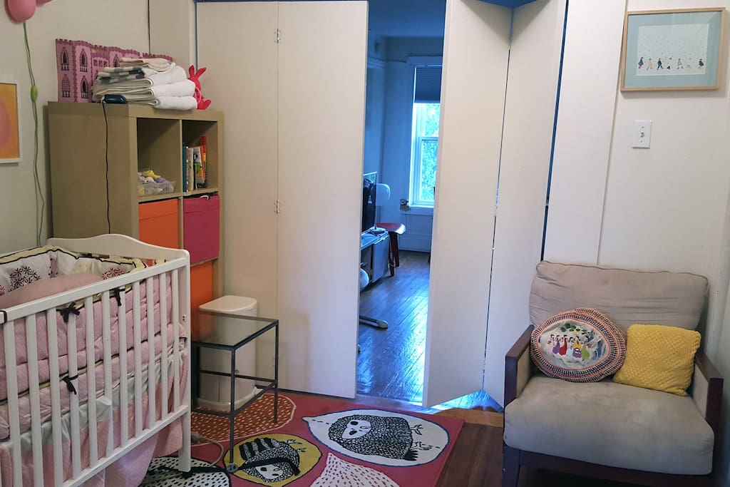 Middle room is a baby's nursery