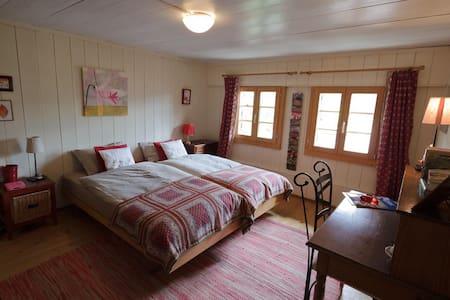 Jolie chambre près de Gstaad - Chalet