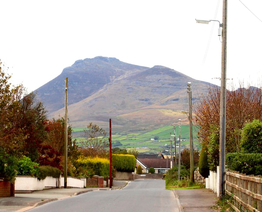 Stunning views of the Mourne Mountains as you drive up the Moneydarragh Road to Fair Haven