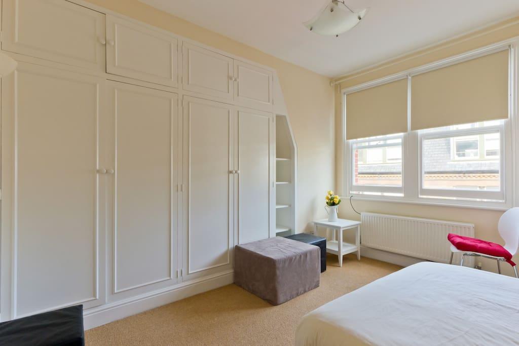 Bedroom 1, street view.