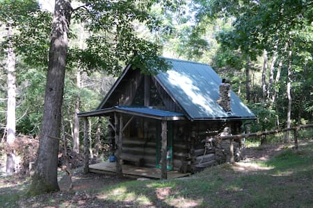 Primitive Log Cabin in the Woods - Cabin