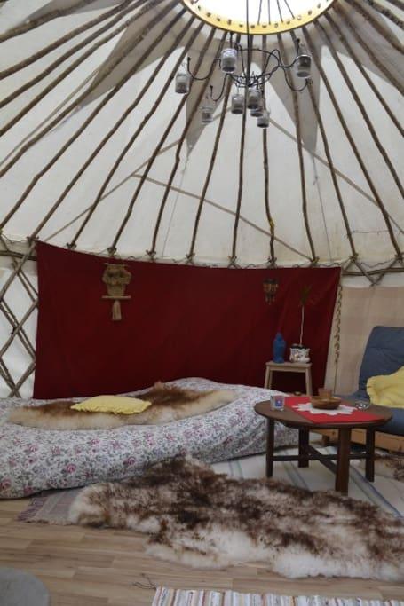Yurt Interior - Amazing Roof Structure