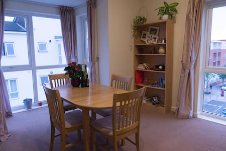 The apartment is modern & bright, with a large living space and well equipped kitchen in a convenient location.  Your room is bright & clean and you will have your own bathroom. Daniel and Jess are friendly hosts who have travelled the world together