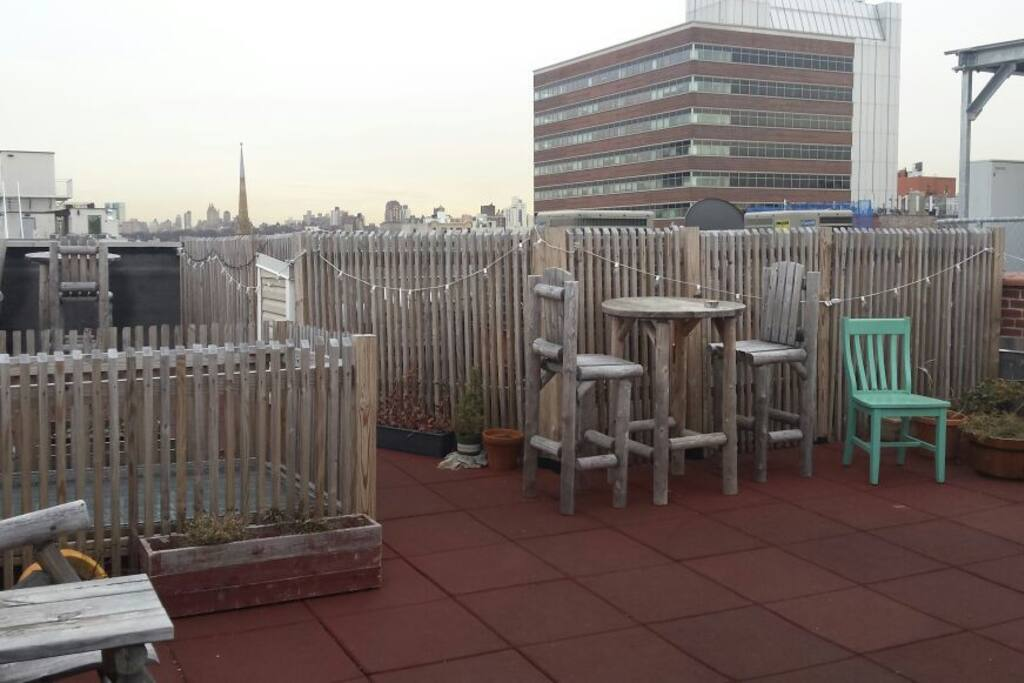 Fully furnished roof access available during your stay!