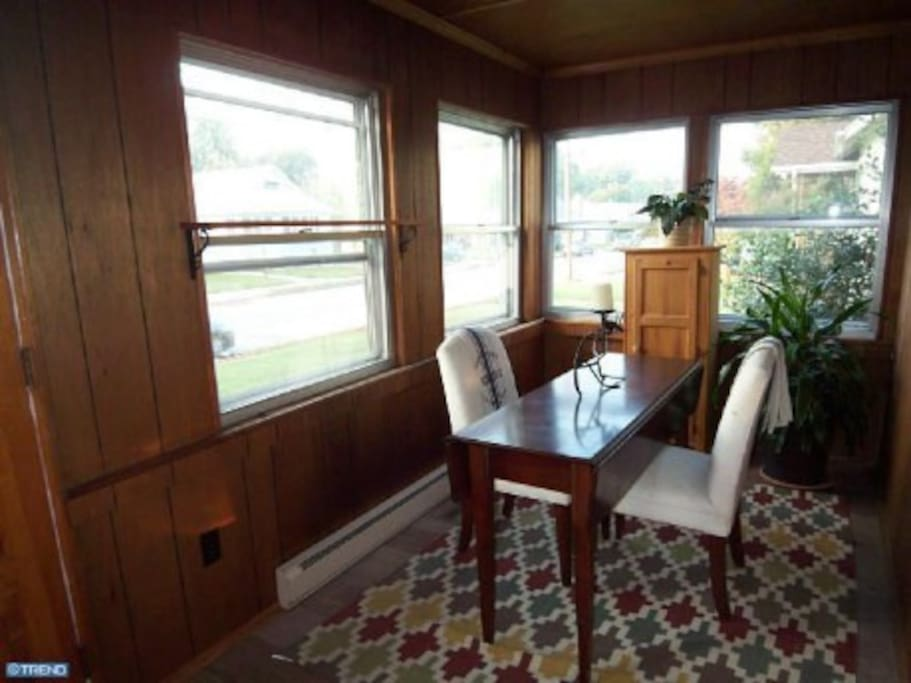 Enclosed heated porch