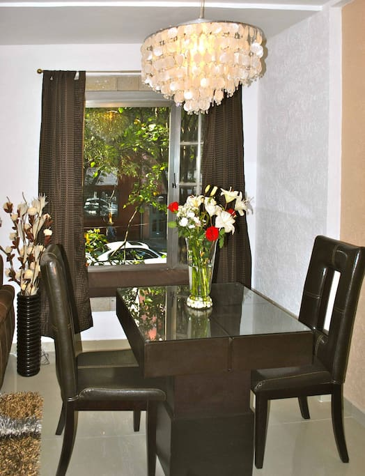 Small dining table for enjoying home cooked meals or to be used as working area