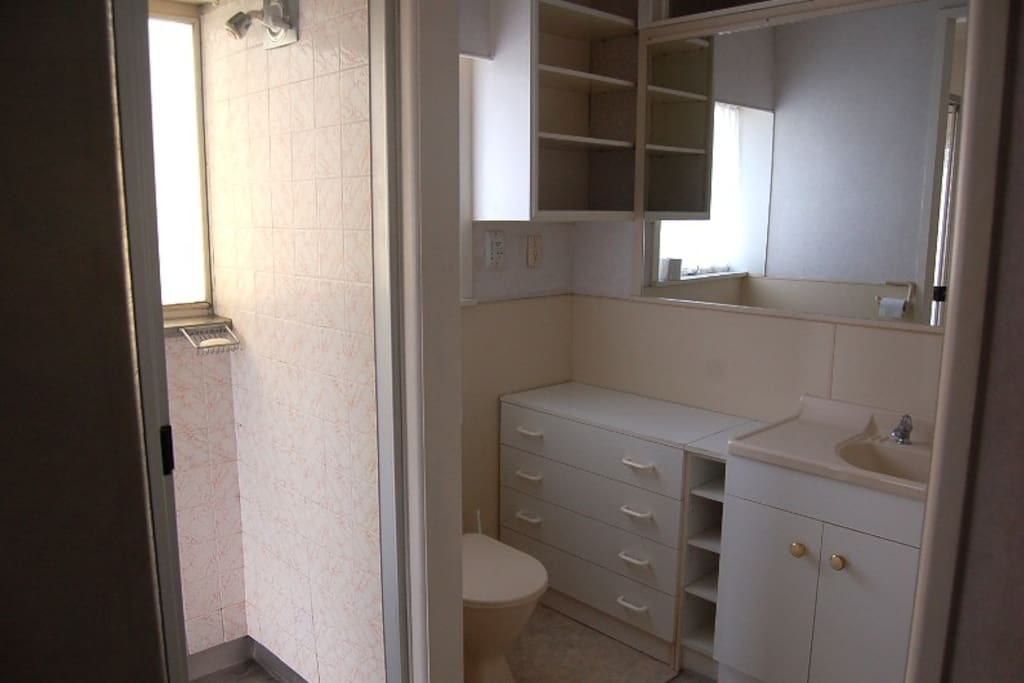 Ensuite bathroom with shower, wc and vanity