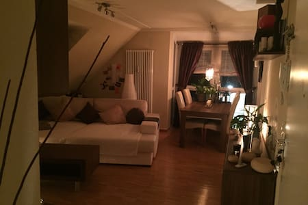 Auf einer grossen bequemen Couch - Apartament