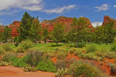 Golf Course Beautiful Red Rock View