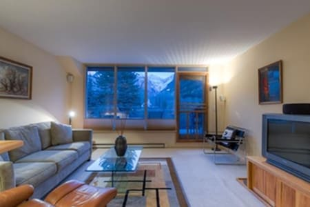 This condo overlooks the San Miguel River and is adjacent to Town Park, where many festivals are held in the summer and fall. The Park has plenty of winter activities as well, a covered ice rink, an skating pond, as well as a Nordic Center with trails all around. The master bedroom has queen bed. There is a hot tub and parking garage on site. Photos are representative of the property and may differ from the actual unit that is reserved.
