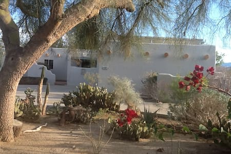 Elegant adobe style home, serene