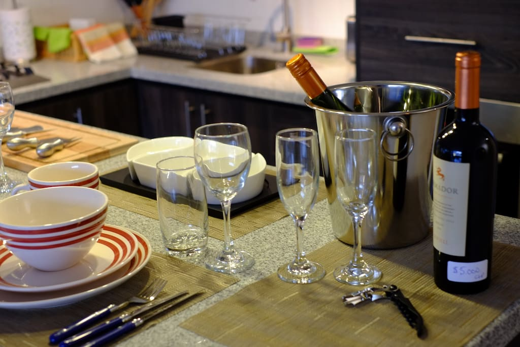 Fully equipped kitchen and bar if you choose to dine in or entertain.