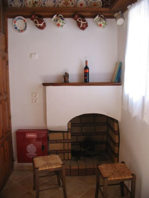 Fireplace in the ground floor