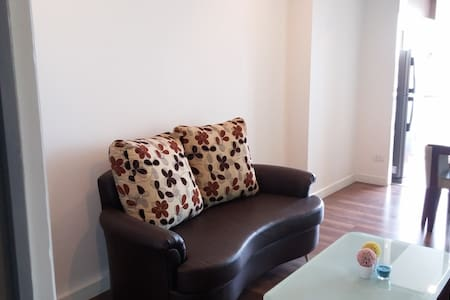 The place is located 5 mins walk from BTS Pho Nimit Station. This is private and cozy condo, very convenient to go to downtown by BTS (12 mins to Siam). .  Room has wifi, TV, laundry machine, kitchen and utensils for cooking.