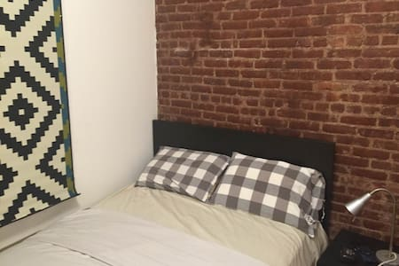 Brand new listing: for reviews please see our other listings. Room available to rent in a classic 3rd floor walk up with wood floors and exposed brick walls. Just one block from Central Park.