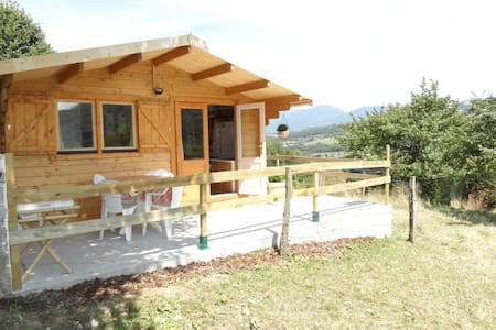 Chalet la Galopaz (20m2), terrasse. - Chatka w górach