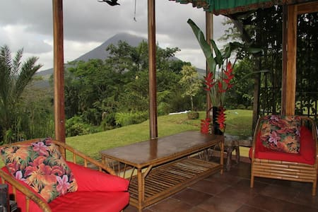Equipped Bungalow, Volcano View.