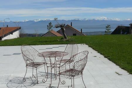 Vue spectaculaire sur Lac et Alpes - Arzier-Le Muids - Haus