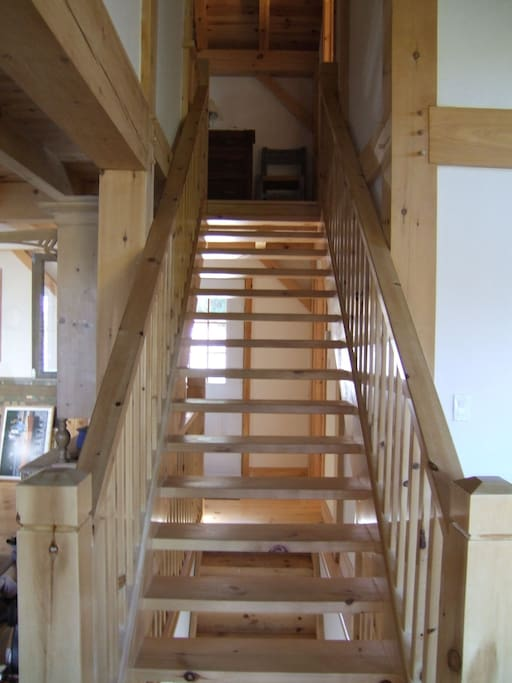 Staircase leading to upstairs