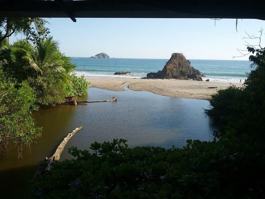 At the beach in Manuel Antonio