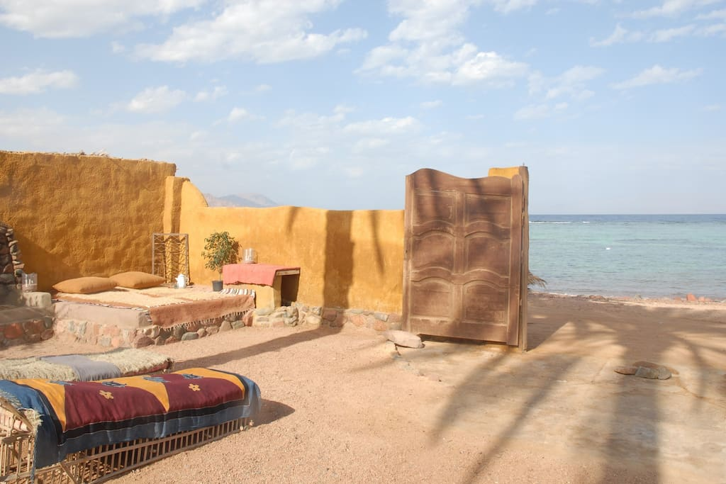 The garden, sandy beach & world class Red Sea coral reef right outside