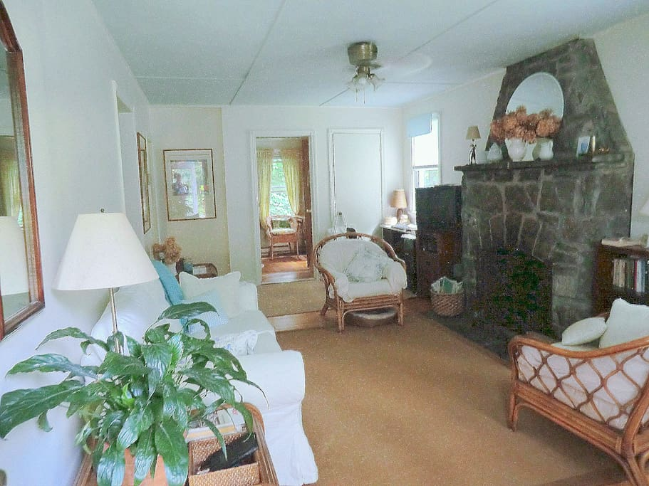 Charming Cozy Cottage - Our comfy living room.