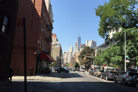 Brand new apartment in downtown Manhattan, brick wall and wood floor, laundry in the building,4 blocks away from the stop station, 10 minutes walk from little Italy and financial district