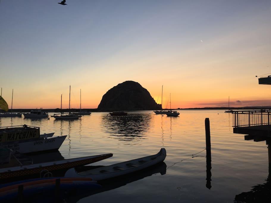 Morro Rock, August Sunset