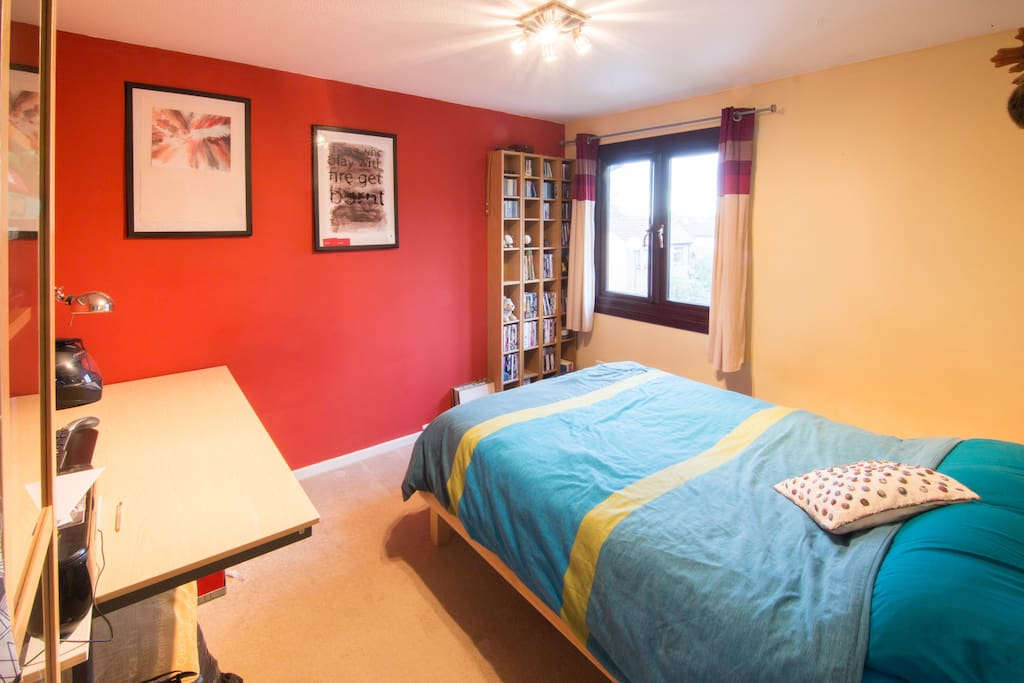Large and comfortable double bed.  A large selection of DVD's