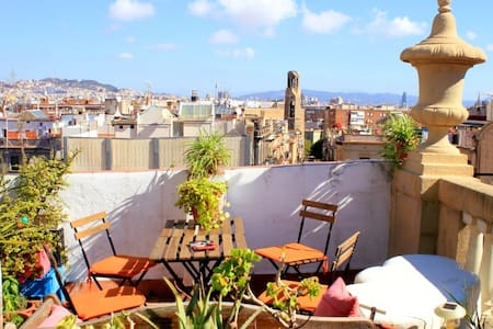 Sunshine and beautiful views of BCN - Barcelona - Apartment