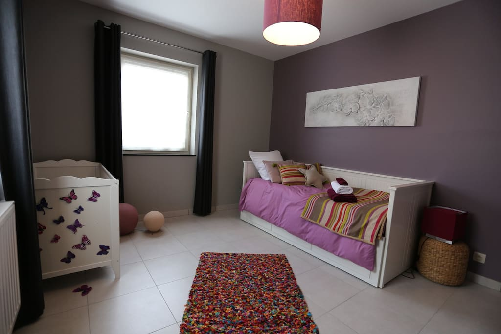 second room with out bed, single or double, and baby bed