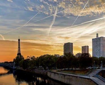 Loft 5 places view on Eiffel Tower - Paris - Loft