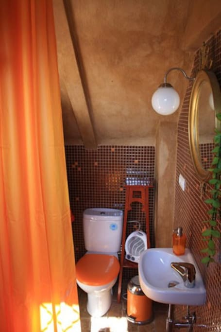 bathroom with shower( i was there taking the picture....)