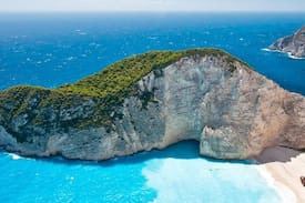 Picture of Zakynthos, direct on the sea.