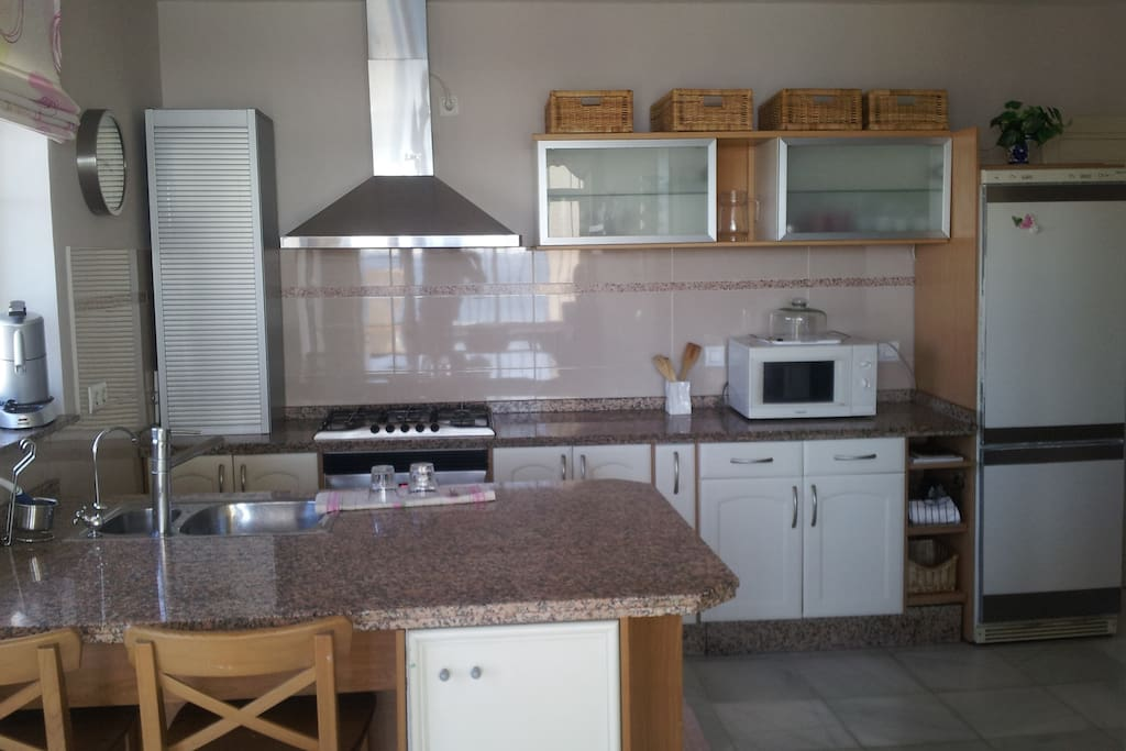 holiday villa in costa del sol kitchen