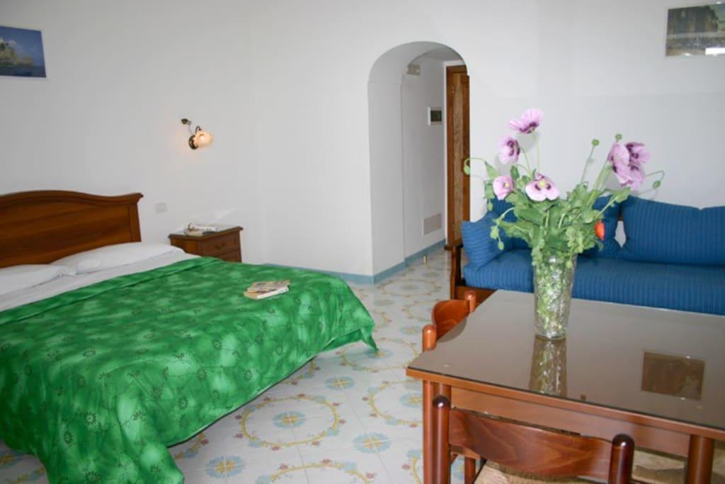 Bedroom of Concetta Apartment in Positano