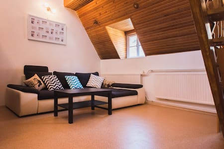 Cosy apartment in central Gyor,  on the corner of the main square. It's an ideal location for your visit to the city.  The apartment is well equipped, suitable for longer stay. (see details below)