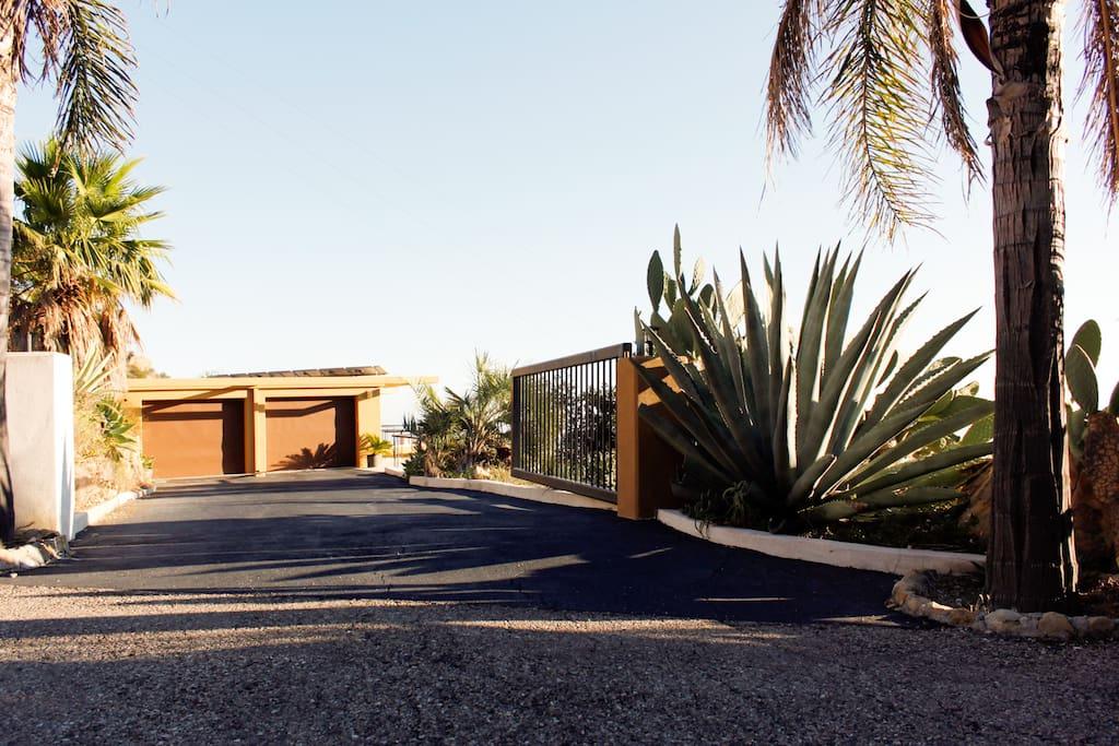 Entrance driveway