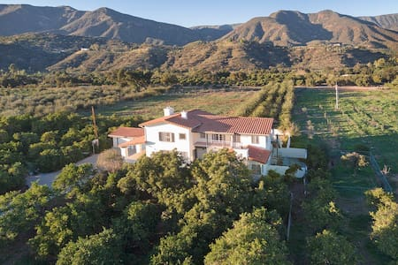 Huge Ojai Home on 10 Acre Orchard