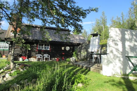 "Norwegion Wood, 300 yr.old ""Heritage"" log cottage. - Gästhus"