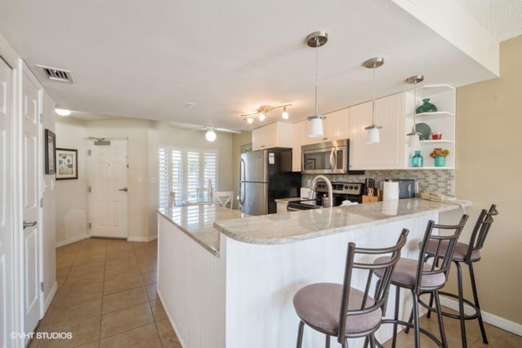This kitchen has everything you will need to whip up a gourmet meal or just make a snack.