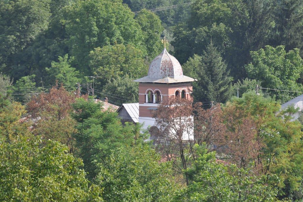 Church seen from terrace