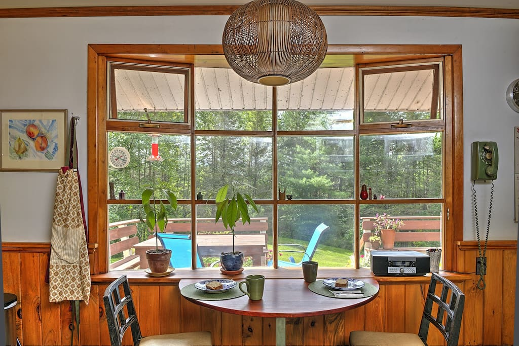 Enjoy breakfast and view from sunny kitchen window