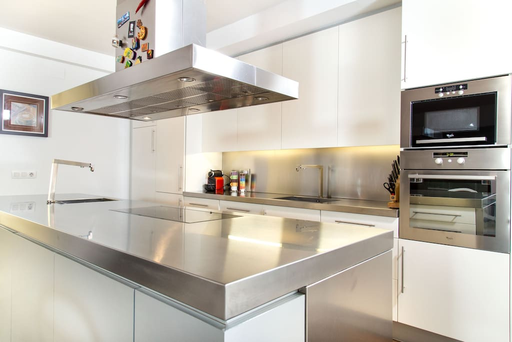 kitchen with all you'd need to prepare mediterranean dinner